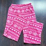 Размер 8-10 Яркие фирменные флисовые пижамные домашние штаны
