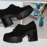 Туфли на платформе замш кожа 36,37 и 38 р
