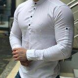 Черная и белая. Топ качество. Хит 2019. Стильная Рубашка S, M, L, XL.