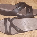 5 W -23.5 см Crocs кроксы новые 6 от края до края танкетка 4 см ширина стельки 8.8 коричневые