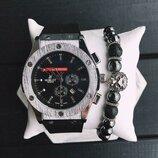 Стильные мужские часы Hublot,есть расцветки