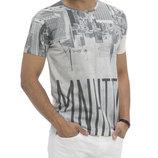 Мужская футболка белая Lc Waikiki / Лс Вайкики с надписью Manhattan