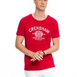 Мужская футболка красная Lc Waikiki / Лс Вайкики с надписью Crenshaw