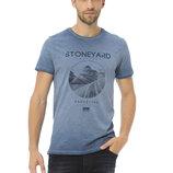 Мужская футболка синяя Lc Waikiki / Лс Вайкики с надписью Stoneyard