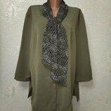 На шикарные формы Стильная нарядная блуза туника Bonmarche р.20 54-56-58