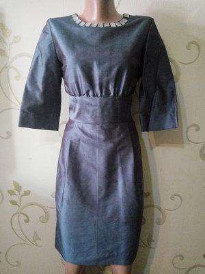 Красивое шелковое платье футляр от BARBARA CHARDON . 100% шелк сырец .