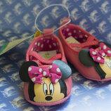 Пинетки тапочки, туфельки для самых маленьких, балетки Микки Маус