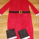 Пижама слип кигуруми костюм Дед Мороз Санта Клаус