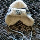 -Зимняя теплая шапочка на мальчика, Польша, на 1-1,5 года