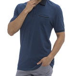 Мужское поло синее LC Waikiki / Лс Вайкики с синим воротником