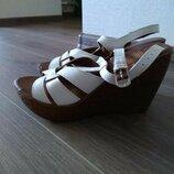 Босоножки туфли эко кожа на платформе танкетке каблук красивые мягкие удобные New Look