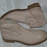 Ботинки кожа перфорация Cream размер 41 42, ботінки шкіра