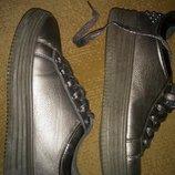 Стильные модные золотистые кроссовки, кеды бронзового цвета, 38 размер