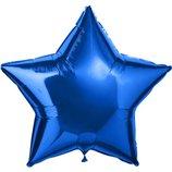 Шар фольга синий 45см