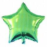 Шар фольга зелёный 45см