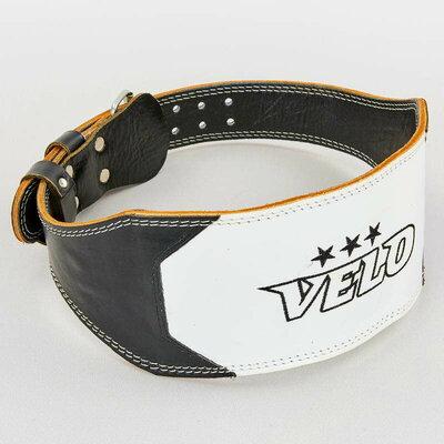 Пояс для пауэрлифтинга кожаный Velo 8182 размер M-XXL