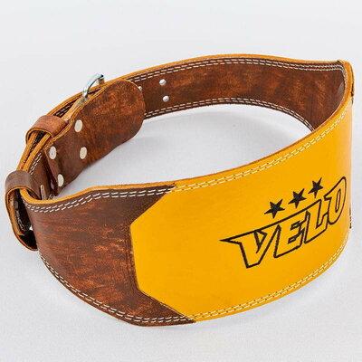 Пояс для пауэрлифтинга кожаный Velo 8181 размер M-XXL