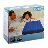Матрац велюр кровать серии Дауни классик Intex 68758 размер 137х191х22см