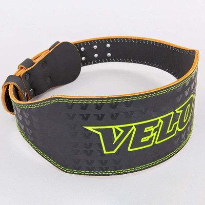 Пояс для пауэрлифтинга кожаный Velo 8180 размер M-XXL