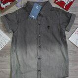 Тоненький джинс TU рубашка 6 л 116 см сток