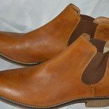 Ботинки кожа Pier One размер 42 41, ботінки шкіра