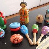 развивающие деревянные игрушки яйцо йо-йо юла конструктор трещетка кольцеброс