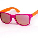 Оптовая цена.Качественные детские очки polarized, UV400. Розовый с оранжевым.