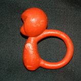 игрушка ссср погремушка мартышка целлулоид новая