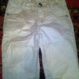 Золотистые джинсы с кружевом р.128