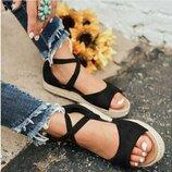 босоножки женские Хит на танкетке на платформе сандалии шлепки сланцы туфли