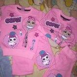 Костюм для девочек с куклами LOL р.1-5 лет