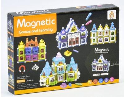 Конструктор магнитный Замок AQ - 906 , 75 деталей,в коробке
