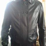 Кожа натуральная мужская черная короткая куртка м