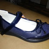 Синие туфли 35,38 р. том.м на девочку, туфлі, дівчинку, деми, tom.m, том, детские, школу, платформе