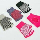 Перчатки для йоги и танцев без пальцев 8367 4 цвета
