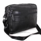 Кожаная мужская сумка Bon3923-1 через плечо для документов ноутбука 36х25см