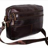 Кожаная мужская сумка Bon3923-2 через плечо для документов ноутбука 36х25см