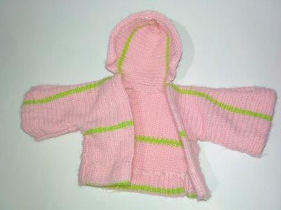 Одежда халат кофта халат курточка на куклу, для куклы пупса кукла,пупс