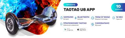 TaoTao U8 APP - 10 дюймов с приложением и самобалансом Mix Fire Огонь и лёд