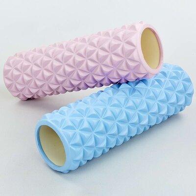 Роллер массажный для йоги и пилатеса Triangle 8376 длина 45см 2 цвета