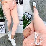Женские летние спортивные брюки штаны с лампасами ткань джинс-бенгалин Hard скл.10 арт.162
