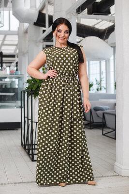 Женское летнее длинное платье пышное макси в пол женские летние длинные платья пышные горошек горох