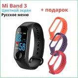 Фитнес браслет MI BAND 3 Смарт часы фитнес трекер М3 калории,шагомер,пульс,давления крови.
