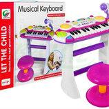 Детское пианино, синтезатор с микрофоном. Польша. Н.