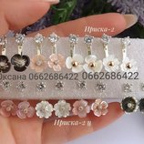 жіночі срібні сережки пусети, срібні кульчики, серебряные серьги пусеты