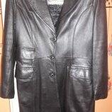 Пальто-Плащ кожаный демисезон