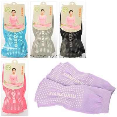 Носки для йоги и танцев без пальцев 1643 размер 35-40, 5 цветов