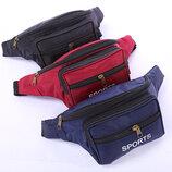 Стильная поясная унисекс сумка бананка Sport В Наличии