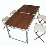 Набор туристический складной, Стол 4 стула комплект для кемпинга, туризма, сада