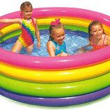 Детский надувной бассейн Радуга Intex